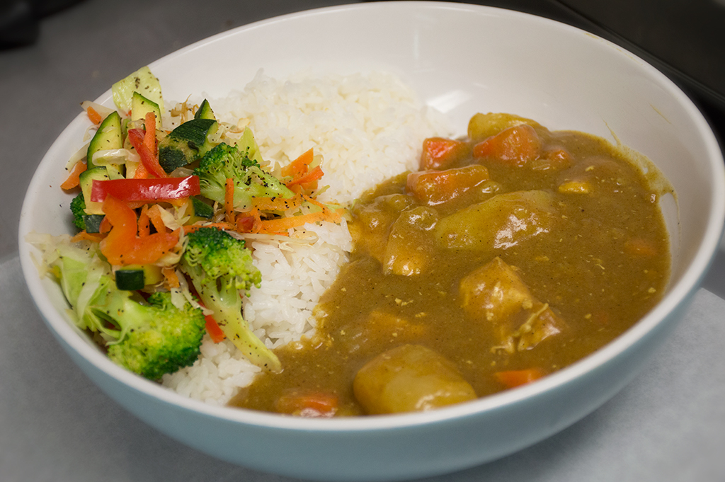 Gangnam Style Chicken Curry with Rice